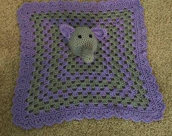 Purple elephant baby lovey
