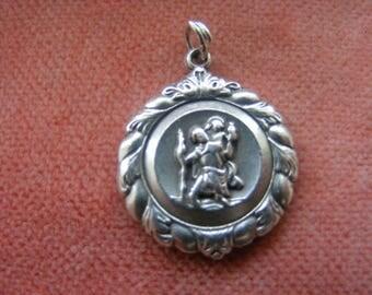 Vintage Sterling Silver Charm  - Georg Jensen St Christopher