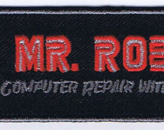 Mr Robot Computer Repair with a Smile Cosplay Patch