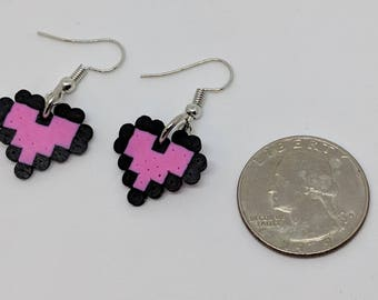 Mini Perler Heart Earrings