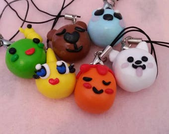 Undertale Monster Friends Clay Charms Set 1