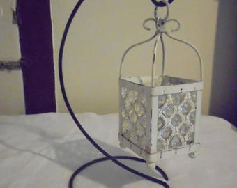 white lantern with crystals