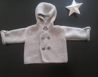 Handmade knit baby Cardigan