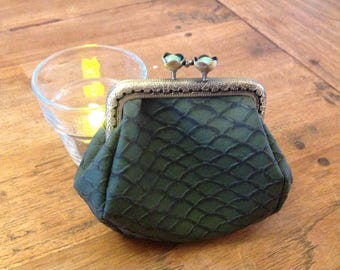 vintage faux tortoise shell leather wallet