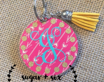 Personalized Initial Acrylic Keychains - Your Choice!