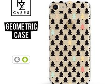 Geometric Phone Case, Pine Tree Phone Case, iPhone 7 Case, Christmas Phone Case, iPhone 6 Case, iPhone 7 Plus, iPhone 6 plus, Samsung Galaxy
