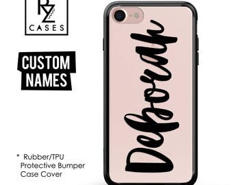 Custom Phone Case, Personalized Case, iPhone 7 Case, iphone 6, Personalized Gift for Her, Custom Name, iPhone 6s, Rubber, Bumper