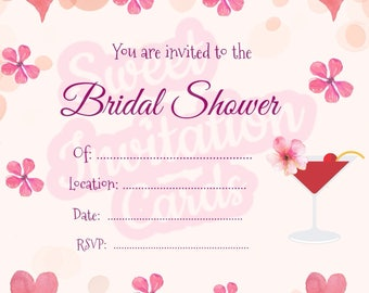Pink bridal shower with hearts