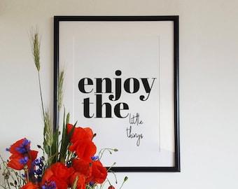 Inspirational print, motto print, housewarming decor, scandinavian print, hygge print, minimal design, gift idea, poster art, motto print