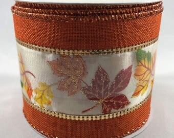 Thanksgiving Fall Leaves Ribbon