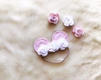 Floral Baby Minnie Ears