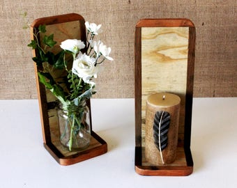 "Reclaimed Wood ""Western"" Candle Holder / rustic candle holder / rustic wooden wall mount / shabby chic candle holder / reclaimed wood decor"