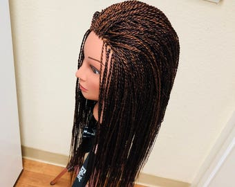 Lace front million braids custom made senegalese twists