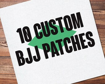 "10 Custom Full Color Brazilian Jiu Jitsu Patch for your Gi Kimono Uniform BJJ, Grappling, Martial Arts and MMA 12"" x 12"""