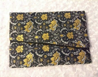Black and Gold fold over clutch