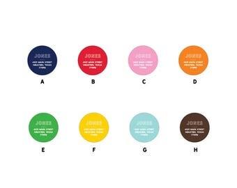 "70 1.5"" Circle Custom Address Labels/Stickers"