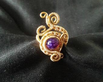 "The ""Mystic Vapor "" Brass handmade Ring"