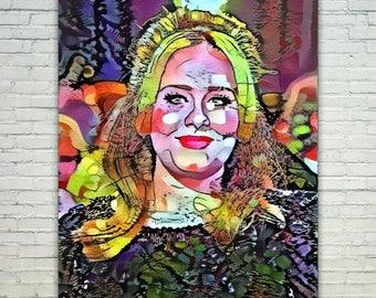 Adele - Adele Poster,Adele West Art,Adele Print,Adele Poster,Adele Merch,Adele Wall Art,Adele Fan Art,Modern Abstract Pop Art Home Decor