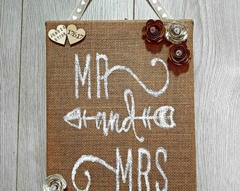 Wedding Burlap Canvas