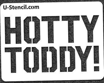 """Ole Miss """"HOTTY TODDY"""" – Mini Stencil"""