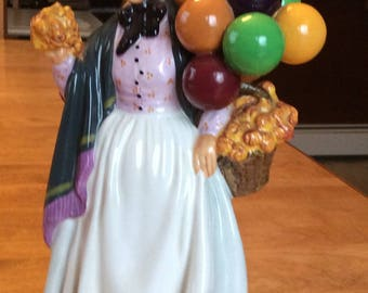 Vintage Royal Doulton England Figurine Lady With Balloons HN 1843