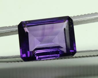Natural Amazing AAA Purple Huge African Amethyst Size 12x16 mm faceted Octagon 1 PC 11 ct CODE :- AQ57