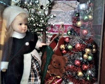 Christmas shadow box/diorama.