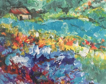 """French Countryside Homestead Art Print 11"""" x 14"""""""