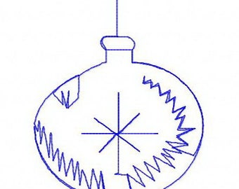 Christmas ball machine embroidery design
