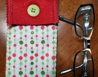 Christmas Eyeglass Case