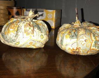 Two fabric pumpkins!