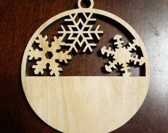 Customizable Christmas Ornament - Engraved Birch Wood Ornament First Christmas / Our First Christmas Together - Laser Engraved/Cut