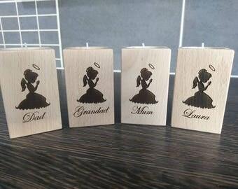 Personalised Memorial Candle, Tealight candle holder