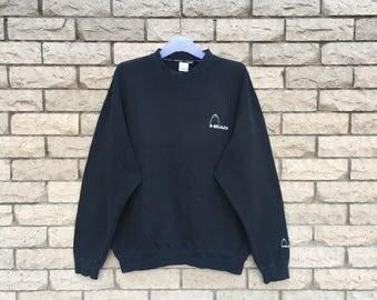 vintage!!! HEAD sweatshirt embroireded small logo.. vintage sweatshirt .. size L