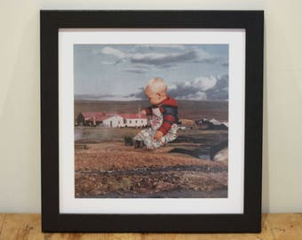 Big Baby - Digital Collage Art Print Poster