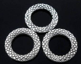 30 rings / circles silver primer closed 14mm