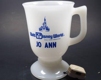 Disney World milk glass mug