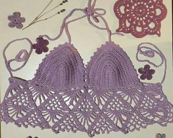 Handmade crochet crop top