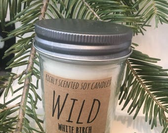 White Birch 8 ounce Soy Candle