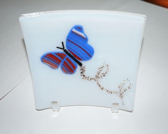 Butterfly Plate - Fused Glass - Perfect Christmas Gift