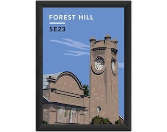 Forest Hill Horniman Museum SE23 - Giclée Art Print - South London Poster