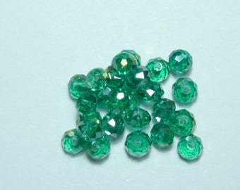 10 pearls 8mm iridescent emerald green swarovski crystal
