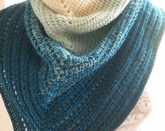 Merino wool scarf shawl