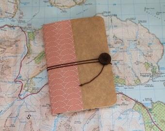 Japanese spirit orange and Brown notebook