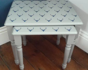 SOLD *** Set of 2 stackable coffee tables (delivery quote available on request)