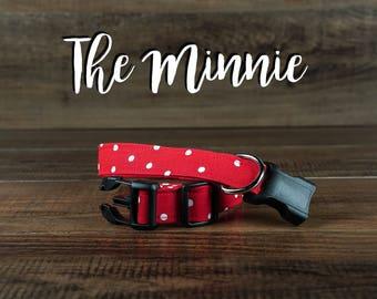 The Minnie - Fabric Dog Collar - Adjustable Collar - Custom Fabric