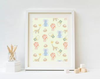 Safari Toss Safari Nursery Art Print
