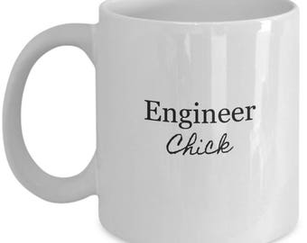 engineer chick, gift for her, engineer gifts, tea mug, engineer gift, engineer, engineering gifts, engineering student, gifts for engineer
