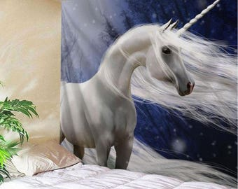 Wall Tapestry Hanging Tapestry Throw Unicorn