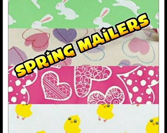 Spring Designer Poly Mailers - 10 x 13 Envelopes -Shipping Envelopes -Adhesive Mailer - Water Resistant - Heavy Duty Mailers - Flat Envelope